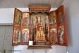 Vackert altarskåp från 1400-talet
