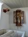 Helgonskåp tillverkat under 1400-talets slut med en bild av Sankt Petrus.