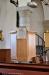 Predikstolen är ritad av Ärland Noreen och samtida med kyrkan.