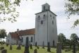 Kyrkan i motljus mot söder