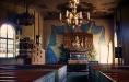 Interiör av 1700-t kyrkan.Foto:Bernt Fransson