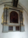 Kyrkans äldsta altaruppsats från omkr. 1600.