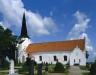 Blentarps kyrka på 80-talet. Foto: Åke Johansson.