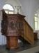 Predikstol i ek från 1640