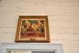 Målning av Gunnar Torhamn ovanför dörren till sakristian