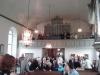 Interiör mot orgelläktaren vid återinvigningen 28 juni 2015.