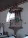 Predikstolen med Martin Luther och Gustav Vasa.