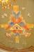 Dekorationsmålningen i kortaket är gjord av Einar Forseth på 1930-talet