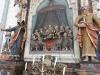 Detalj av den gamla altartavlan. Påfallande hög relief.
