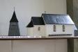 Kyrkan har ett flertal modeller av tidigare kyrkor.