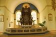 Den ståtliga altaruppsatsen som renoverades och sattes upp 1936