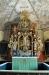 Altaruppsatsen byggdes 1694 av skulptören Bengt Svensson