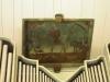 Takmålning ovanför orgelläktaren visar döden i form av en lieman.Foto:Bertil Mattsson
