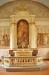 Vacker utsmyckning på altarets famsida