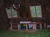 Altaret och golv klätt i björkris