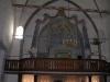 Även på orgelläktaren - draperimålning