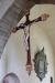och tronande Kristus ovanför triumfbågen. 1300-talet.