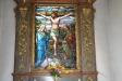Tidigare altarbord i trä byttes 1961 ut mot ett altare i sten.