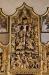 Jesus tas ner från korset. En liten hund viftar med svansen mot Jesus på nedre bilden.