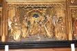 Del av altarskåpet i närbild.