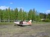 Landat efter en härlig flygtur i ett underbart landskap