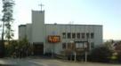 Kyrkan sedd (i låg upplösning) från Sollentunavägen