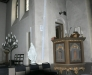 Predikstolen är gjord av tidigare eleven Peder Jensen