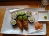 8 bitar vegetarisk sushi för 90 kronor.