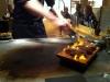 Kocken eldar lite på ankan. Lukten var gudomlig!
