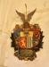 Vapensköld med det Schackska emblemet
