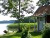 Sittplatser och badmöjlighet 50 m från fiket